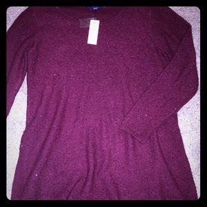 Apt. 9 Sweater Dress with Asymmetrical Hem